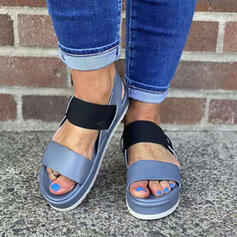 Women's PU Wedge Heel Sandals Wedges Peep Toe With Hollow-out Splice Color shoes
