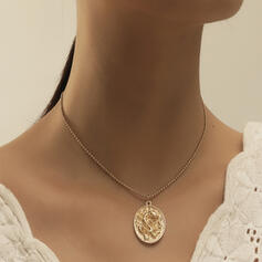 Vintage Simple Dragon Alloy With Coin Necklaces