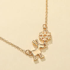 Snowflakes Shaped Christmas Reindeer Christmas Alloy Necklaces