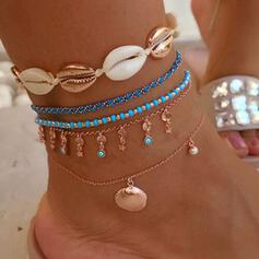 Charming Hottest Shell Alloy With Shell Beach Jewelry Anklets (Set of 5 pairs)