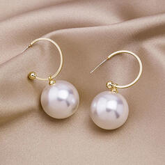 Simple Alloy Imitation Pearls With Imitation Pearls Women's Earrings 2 PCS