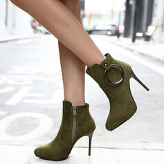 Women's Suede Stiletto Heel High Top With Buckle Others shoes
