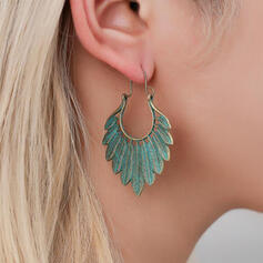 Charming Pretty Artistic Romantic Alloy With Leaf Ladies' Earrings