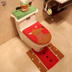 Christmas Merry Christmas Cloth Toilet Seat Cover