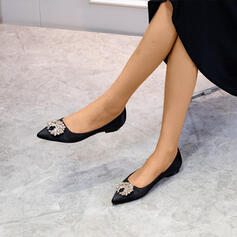 Women's Satin Flat Heel With Beading shoes