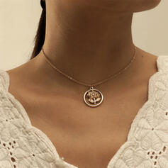 Simple Elegant Alloy With Rose Necklaces