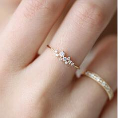 Shining Simple Alloy With Rhinestone Rings