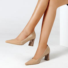 Women's PU Stiletto Heel Pumps Pointed Toe With Hollow-out Colorblock shoes