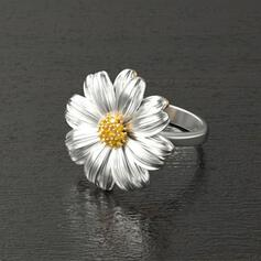 Classic Flowers Alloy Rings