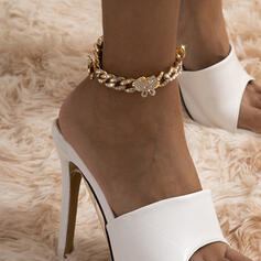 Sexy Charming Artistic With Rhinestone Butterfly Women's Ladies' Anklets 1 PC