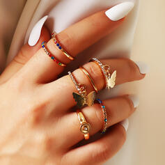 Hottest Layered Alloy Rings 7 PCS