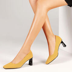 Women's PU Stiletto Heel Pumps Round Toe With Hollow-out Colorblock shoes