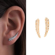 Unique Stylish Leaves Shaped Alloy With Leaf Women's Ladies' Girl's Earrings