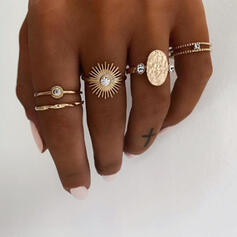 Unique Exquisite Stylish Alloy Jewelry Sets Rings (Set of 5 pairs)