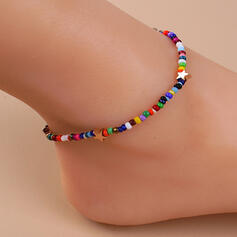 Exotic Boho Alloy Beads With Star Anklets