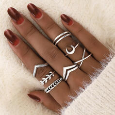 Unique Exquisite Stylish Alloy Jewelry Sets Rings (Set of 7)