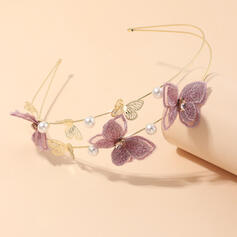 Chic Butterfly Design Delicate Alloy Rhinestones Pearl With Rhinestone Butterfly Pearls Hair Accessories