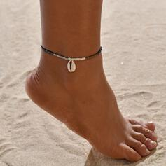 Simple Beads With Shell Anklets