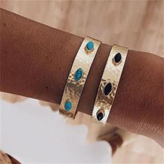 Vintage Layered Alloy Turquoise Women's Bracelets 2 PCS