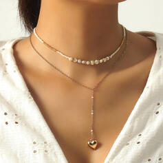 Beautiful Layered Alloy With Heart Necklaces