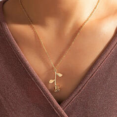 Simple Alloy With Flowers Women's Necklaces 1 PC