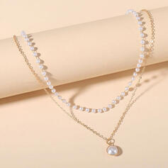 Elegant Alloy With Imitation Pearls Women's Necklaces 1 PC