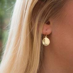 Simple Hottest Alloy With Coin Earrings 2 PCS