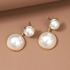 Classic Alloy Imitation Pearls With Imitation Pearls Women's Earrings 2 PCS