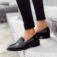 Women's PU Flat Heel Flats With Solid Color shoes