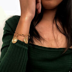 Vintage Layered Alloy With Coin Bracelets 2 PCS