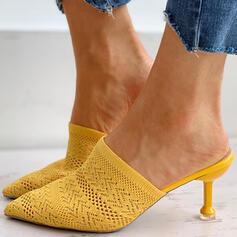 Women's Flying Weave Stiletto Heel Pumps Pointed Toe With Hollow-out shoes
