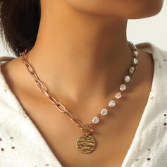 Vintage Link & Chain Alloy With Coin Necklaces