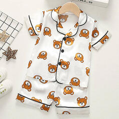2-pieces Baby Cartoon Bear Print Cotton Set