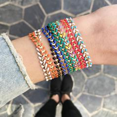 Colourful Boho Attractive Alloy With Ribbon Bracelets