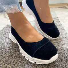 Women's Suede Flat Heel Flats Round Toe Slip On With Solid Color shoes