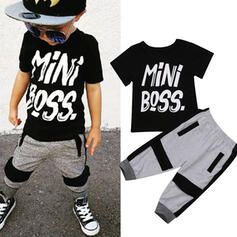 2-pieces Toddler Boy Letter Print Cotton Set