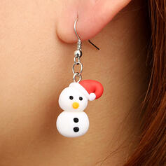 Christmas Christmas Snowman Alloy Soft Clay Women's Earrings 2 PCS