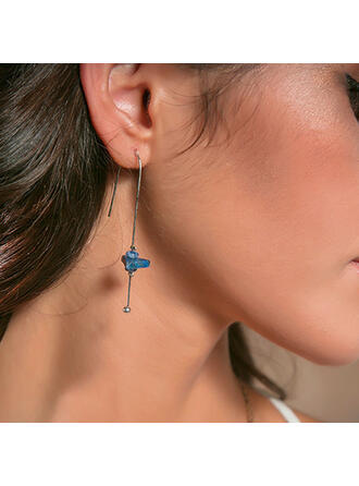 Simple Artistic Alloy With Rhinestones Earrings 2 PCS