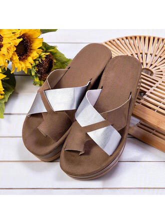 Women's PVC Flat Heel Sandals Peep Toe Slippers Toe Ring With Hollow-out Splice Color shoes