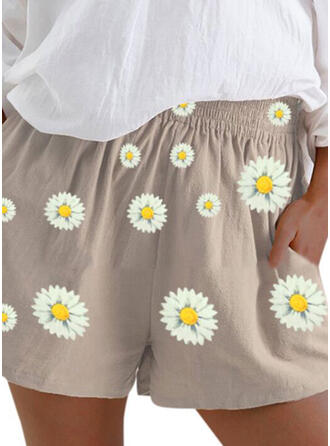 Floral Print Above Knee Casual Floral Print Shorts