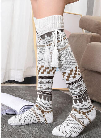 Geometric Print Warm/Comfortable/Women's/Christmas/Knee-High Socks Socks/Stockings