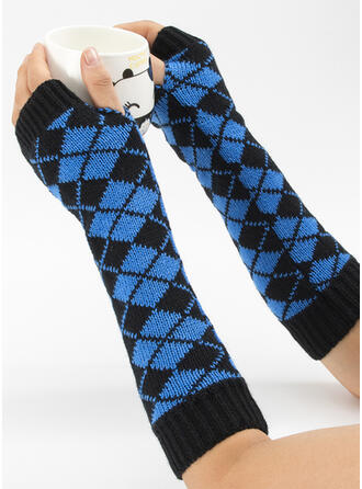 Geometric Print fashion/Comfortable/Color Block Gloves