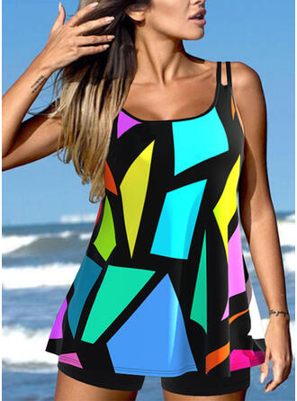 Strap Vacation Tankinis Swimsuits