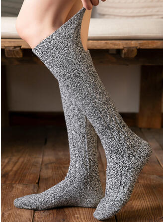 Solid Color Comfortable/Calf Socks Socks/Stockings