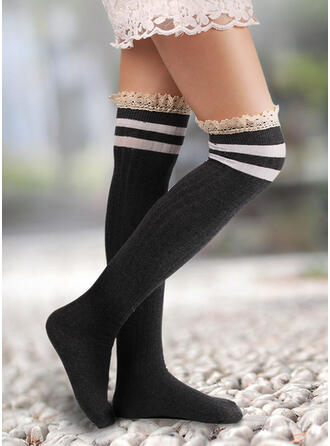 Striped/Stitching Warm/Comfortable/Women's/Knee-High Socks Socks/Stockings