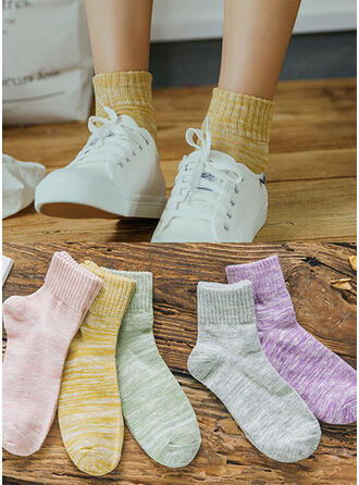 Striped Comfortable/Crew Socks Socks (Set of 5 pairs)