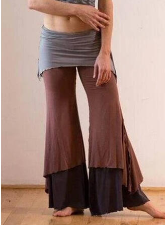 Patchwork Shirred Plus Size Drawstring Casual Tribal Lounge Pants
