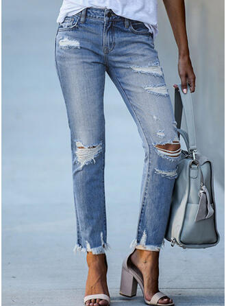 Ripped Tassel Elegant Tribal Denim & Jeans