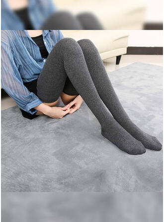 Solid Color Comfortable Socks/Stockings