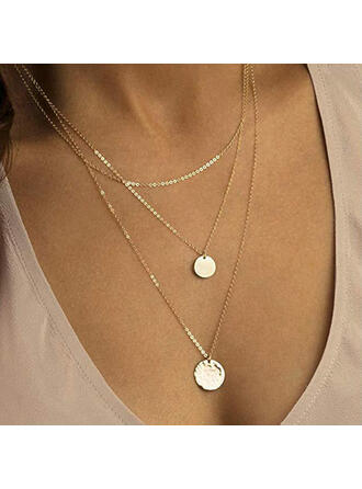 Alloy With Coin Necklaces 3 PCS